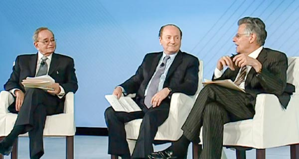 Myron Scholes, Robert Merton, Leo Melamed - Global Economic Outlook