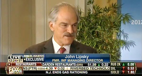John Lipsky - Fox Business Network from the GFLC