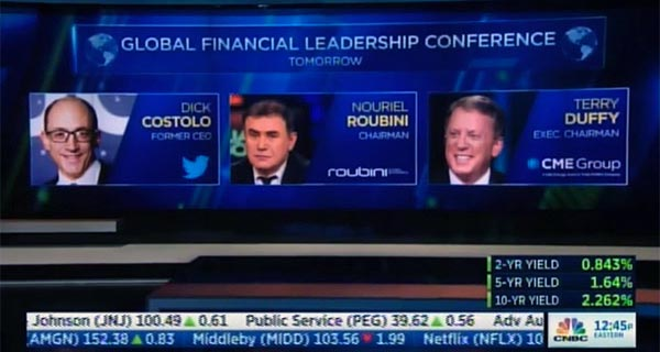 Dick Costolo, Nouriel Roubini, Terry Duffy - CNBC Teases GFLC Coverage